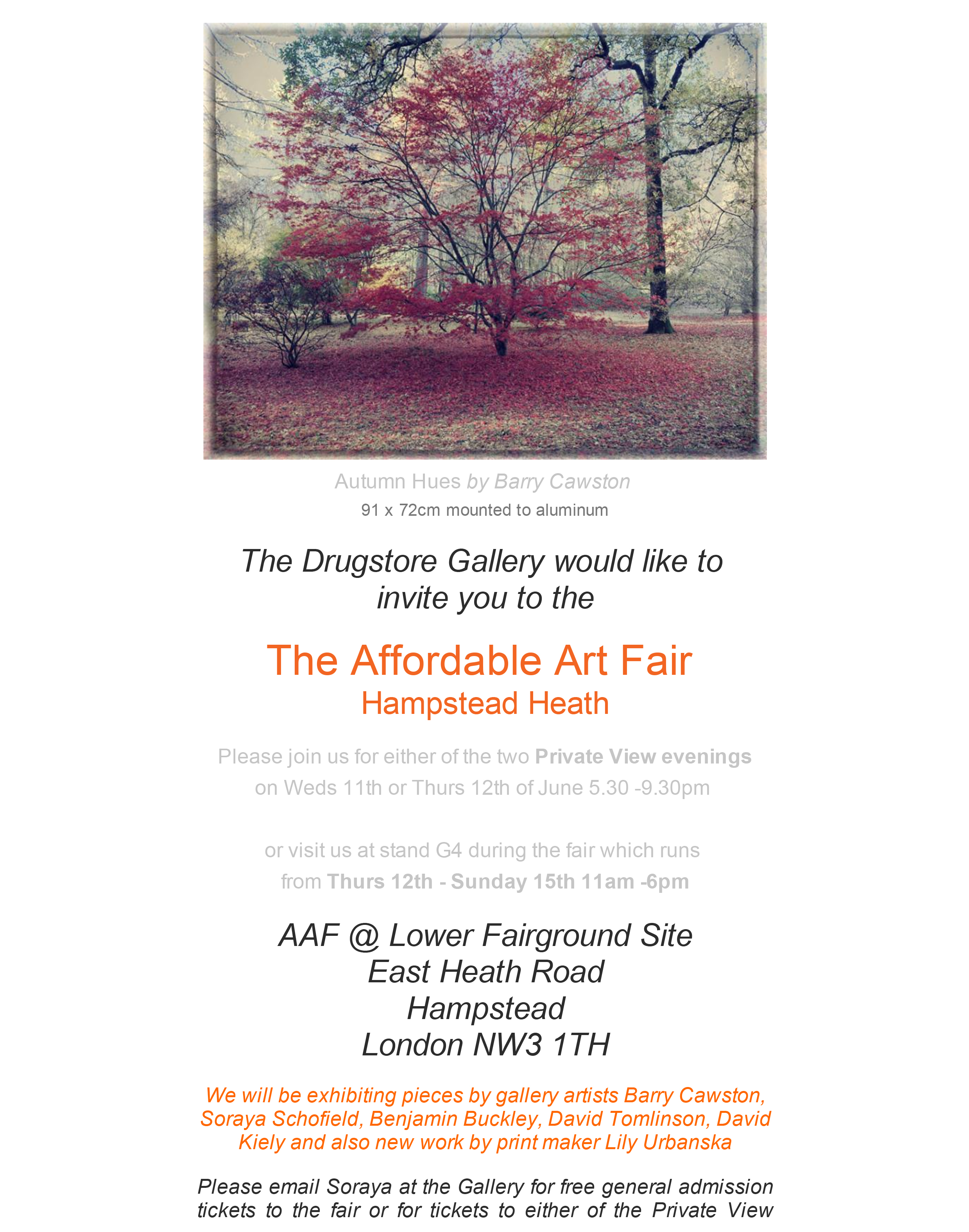 AAF Hampstead invite